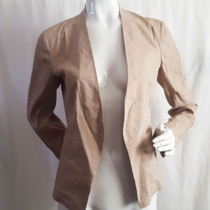 Theory Open Long Sleeve Beige Jacket Blazer Size 6